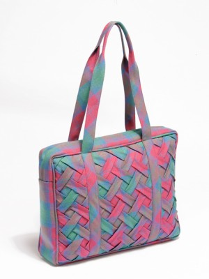 Basketweave A4 bag