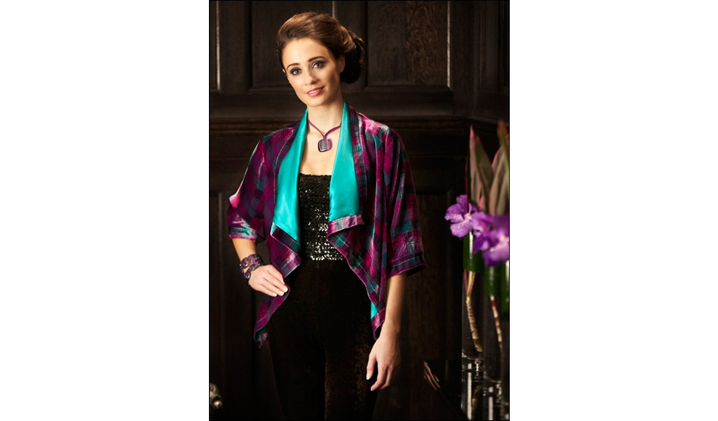 Tartan Spirit Crushed Silk Velvet Jacket