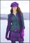 Harris Tweed Jacket and Cap, Kiltie Skirt and Silk Cashmere Scarf