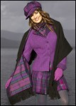 Harris Tweed Jacket and Cap, Kiltie Skirt and Silk Cashmere Wrap