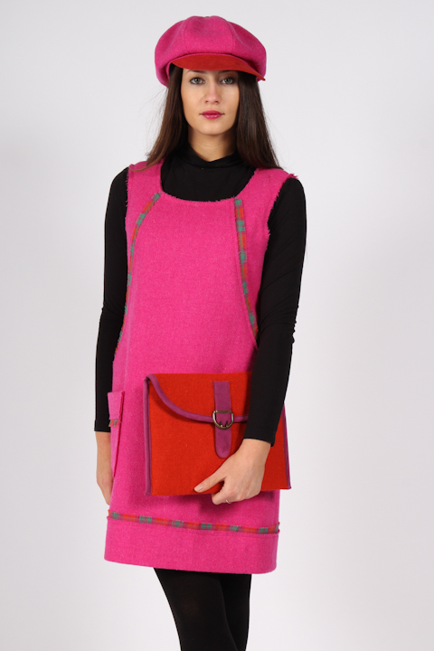 Fushia Harris Tweed dress